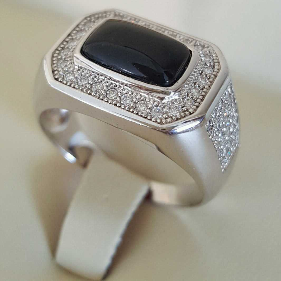 Pure Silver 925 Men Rings Italian Rings Imported From Dubai 15 natural gemstones pakistan + 925 silver jewelry online
