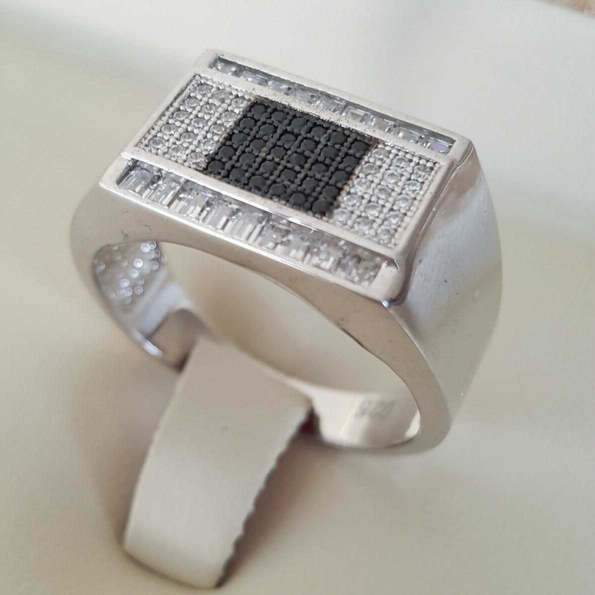 Pure Silver 925 Men Rings Italian Rings Imported From Dubai 6 natural gemstones pakistan + 925 silver jewelry online
