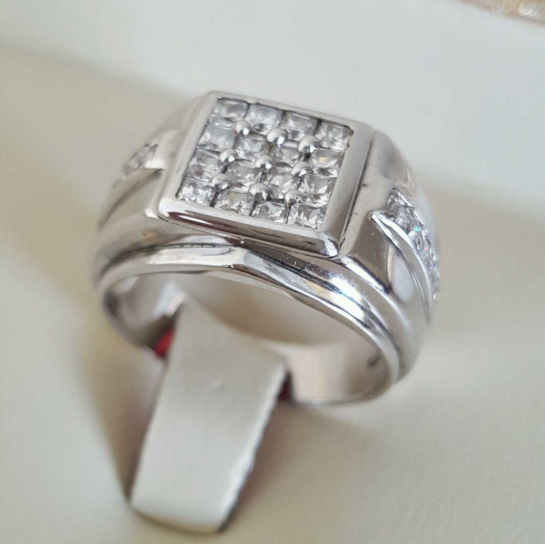 Pure Silver 925 Men Rings Italian Rings Imported From Dubai 7 natural gemstones pakistan + 925 silver jewelry online