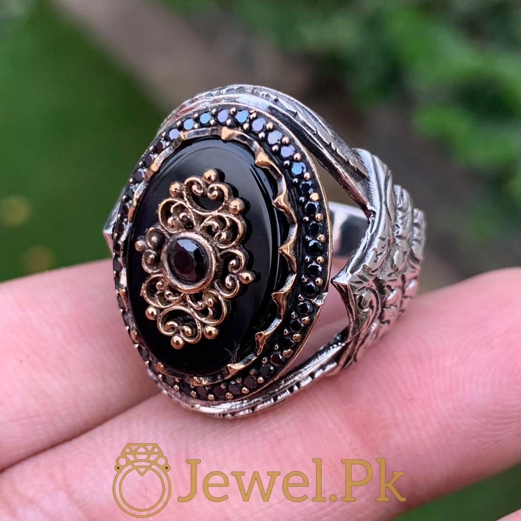 Turkish Rings Ottoman Ring Buy online Silver 925 Turkish Ring 11 natural gemstones pakistan + 925 silver jewelry online