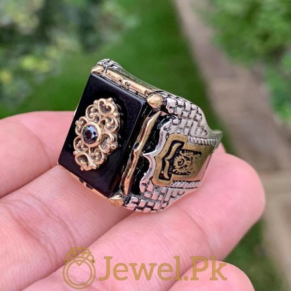Turkish Ring- Black Aqeeq Ottoman ring