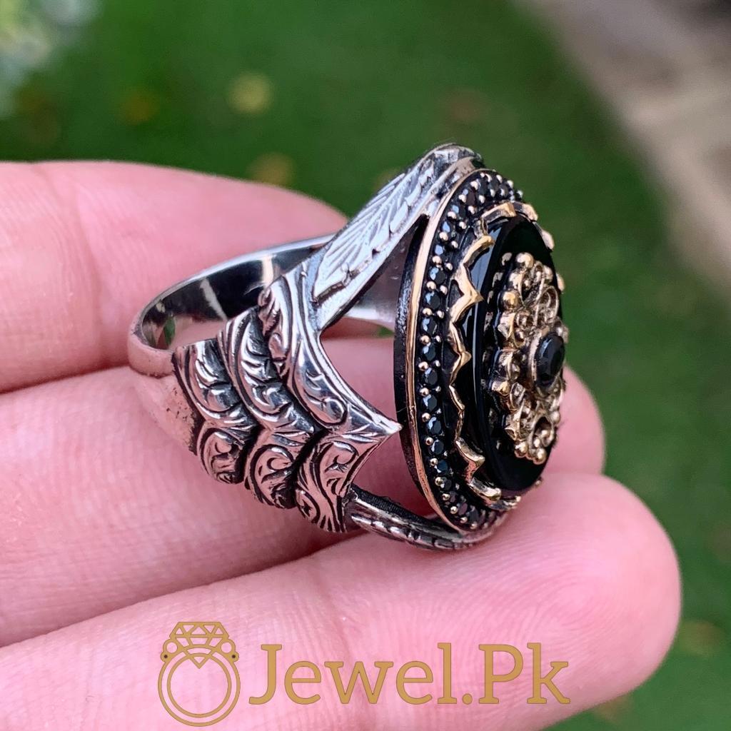 Turkish Rings Ottoman Ring Buy online Silver 925 Turkish Ring 9 natural gemstones pakistan + 925 silver jewelry online