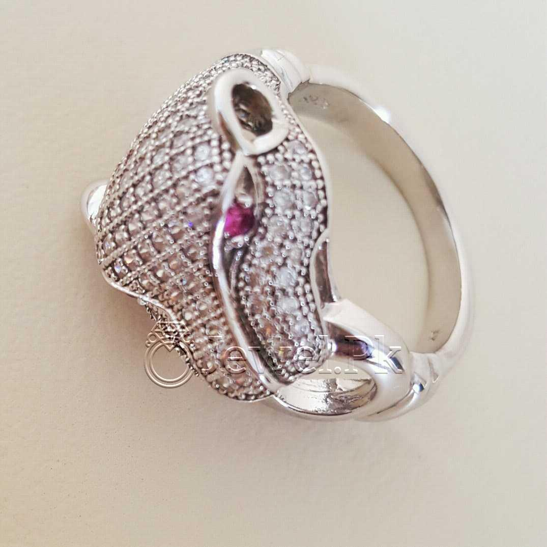 925 Silver Luxury Rings for Ladies Women Silver Rings Woman Handmade Rings 4 natural gemstones pakistan + 925 silver jewelry online