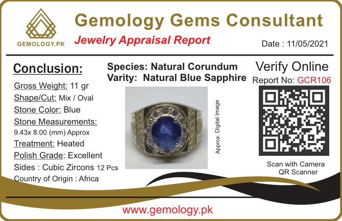 GCR106 1 natural gemstones pakistan + 925 silver jewelry online