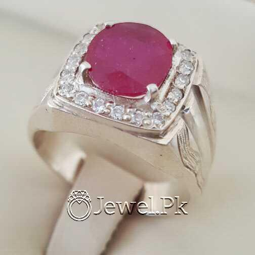 Real Silver 925 Chandi with Natural Ruby Yaqoot Stone 17 natural gemstones pakistan + 925 silver jewelry online