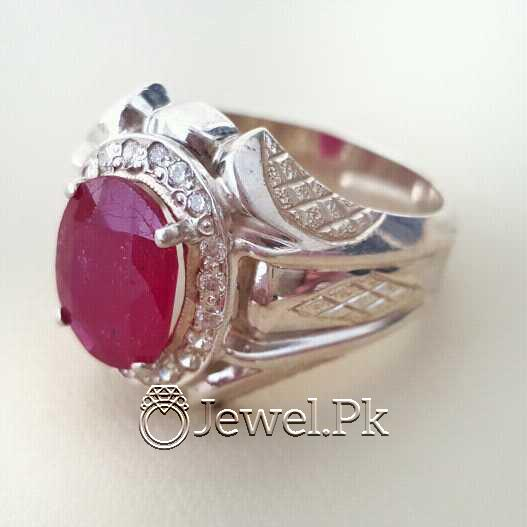 Real Silver 925 Chandi with Natural Ruby Yaqoot Stone 21 natural gemstones pakistan + 925 silver jewelry online