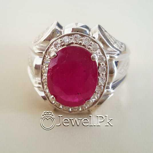 Real Silver 925 Chandi with Natural Ruby Yaqoot Stone 22 natural gemstones pakistan + 925 silver jewelry online