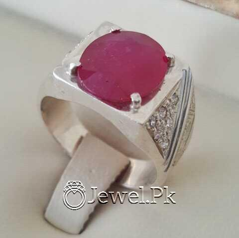 Real Silver 925 Chandi with Natural Ruby Yaqoot Stone 30 natural gemstones pakistan + 925 silver jewelry online