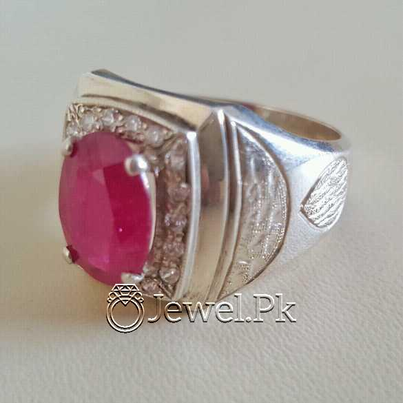Real Silver 925 Chandi with Natural Ruby Yaqoot Stone 38 natural gemstones pakistan + 925 silver jewelry online