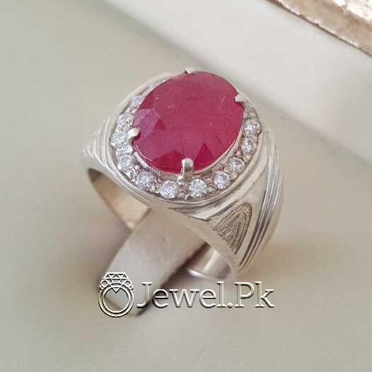 Real Silver 925 Chandi with Natural Ruby Yaqoot Stone 44 natural gemstones pakistan + 925 silver jewelry online