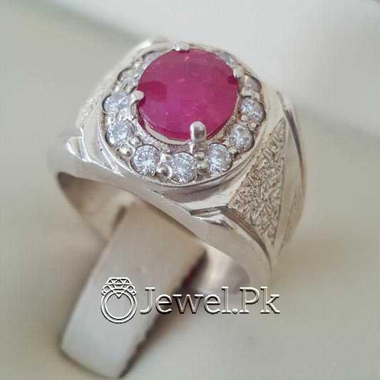 Real Silver 925 Chandi with Natural Ruby Yaqoot Stone 46 natural gemstones pakistan + 925 silver jewelry online