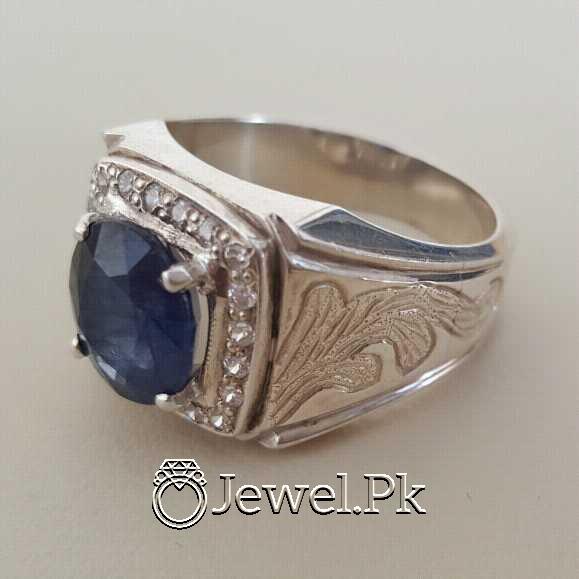 Real Silver 925 Chandi with Original Blue Sapphire Gemstone 15 natural gemstones pakistan + 925 silver jewelry online