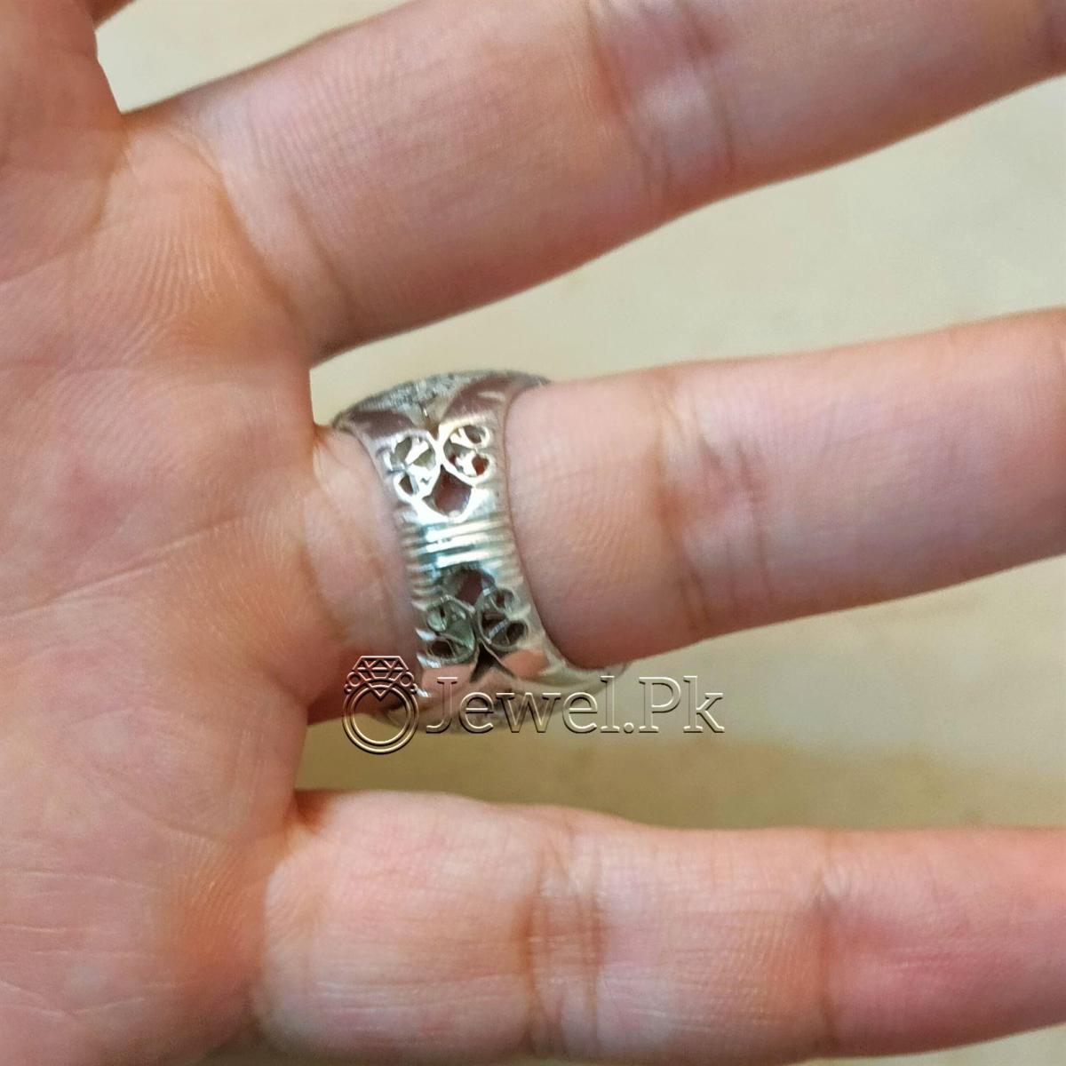 Yellow Agate Heavy Handmade Ring Silver 925 7 natural gemstones pakistan + 925 silver jewelry online