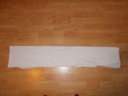Folded in half horizontal