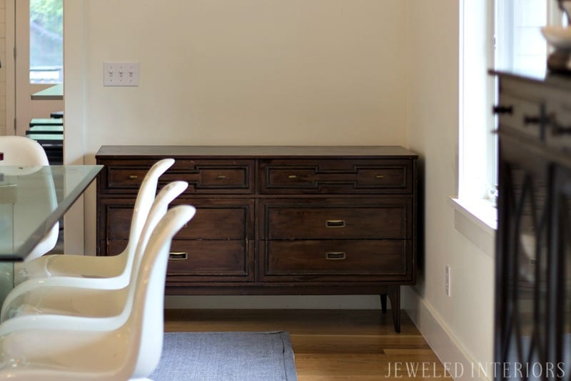 How To Strip Furniture My Mid Century Modern Dresser Refresh Jeweled Interiors