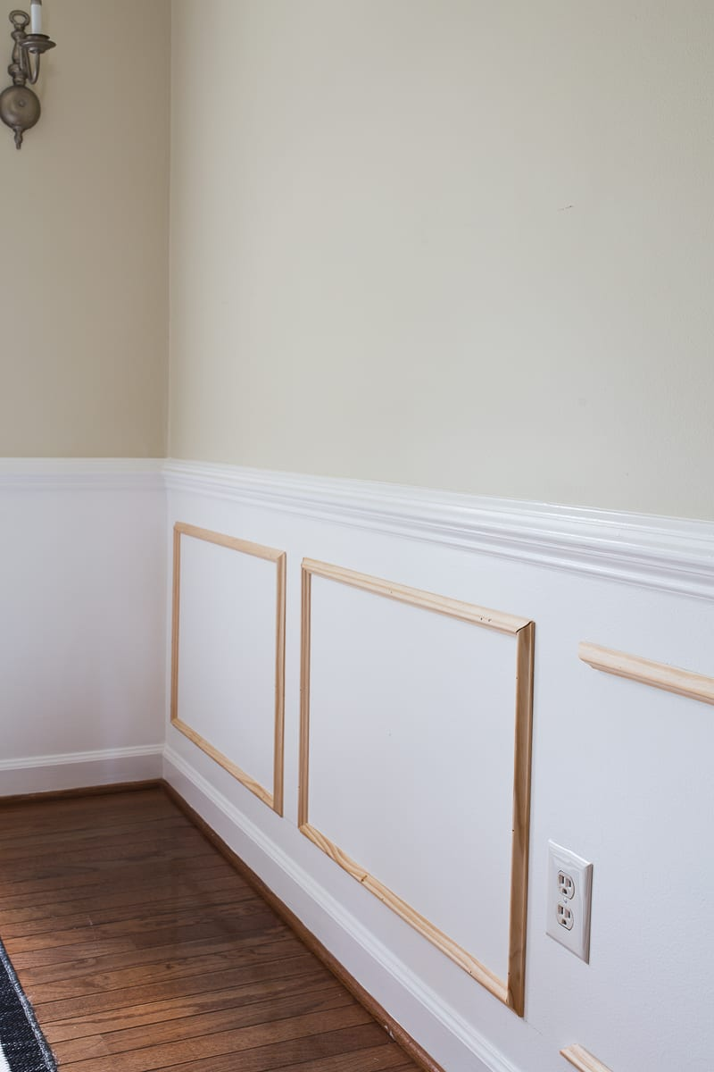 Metrie, Metrie moulding, custom, millwork, walls, molding, crown moulding, chair moulding, picture frame moulding, one room challenge, Jeweled Interiors Fall 2018 One Room Challenge, 2018 fall one room challenge, before and after, colonial, French apartment,