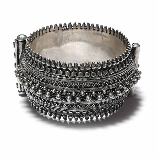 Sterling Silver Silver  Heavy Traditional Antique Rajasthani Bracelet Antique Bracelet Traditional Kada Antique Pack Of 1 Bracelet Ideal for Women - Jewelfort