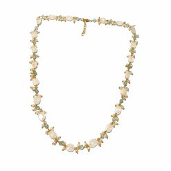 Sterling Silver White Moonstone Cluster Point Necklace Everyday Gifts for Women gemstone necklace gifts for mother gemstones Pack Of 1 Necklace Ideal for Women