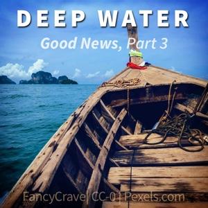 wooden boat in deep water