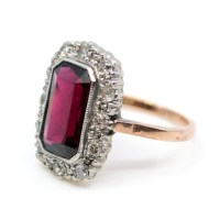 Antique Victorian 3.00ct Garnet and Diamond Ring ...