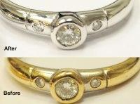 White Gold Jewellery: Yellow Gold Jewelry Dipped In White Gold