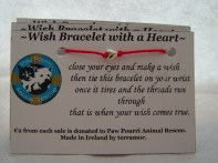 fuschia cord with heart