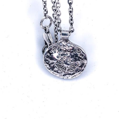 Amazing Coin med kæde. En gammel mønt med sol motiv og en anker halskæde i 925s sterling silver