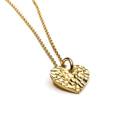 Sparklinn heart set fra siden i guld