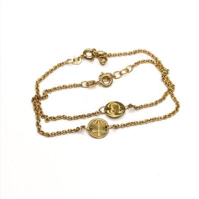 2 stjernetegns armbånd i guld