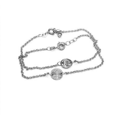Stjernetegns armbånd i sølv