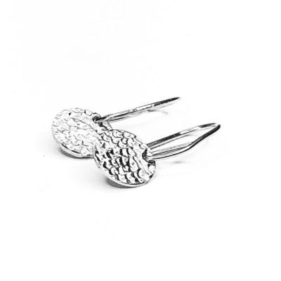 Sparkling Tag øreringe i 925s sølv, runde tag der hænger i ørebøjle