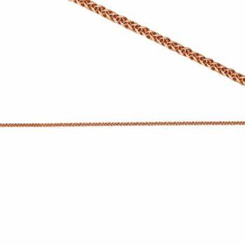 Αλυσίδα Ροζ Χρυσός Λεπτή Πλεκτή Τετράγωνη 45cm 14K