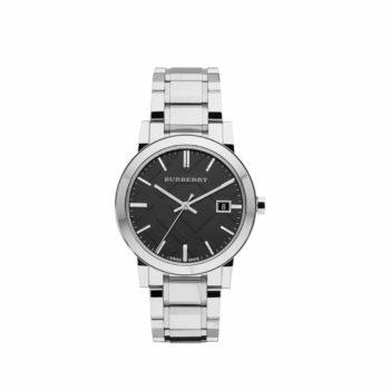Burberry Black Dial Stainless Steel Unisex Watch – BU9001