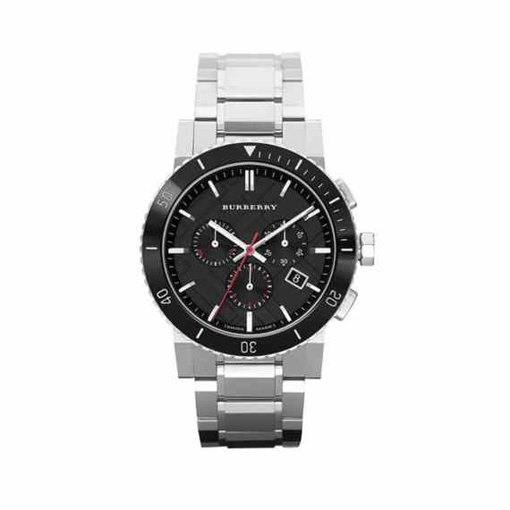 Bu9380 Burberry Black Dial Chronograph Stainless Steel Mens Watch E1554320786345 (1)