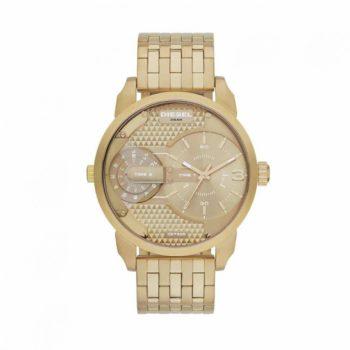 Diesel Mini Daddy Champagne Dial Gold-tone Men's Watch – DZ7306