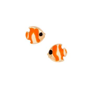 Σκουλαρίκι Ψαράκι Παιδικό Χρυσό Για Κορίτσι