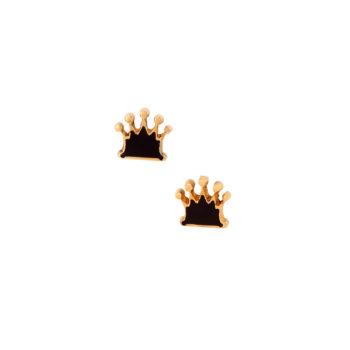 Σκουλαρίκια Κορώνα Χρυσά