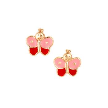 Σκουλαρίκι Πεταλούδα Παιδικό Χρυσό Για Κορίτσι