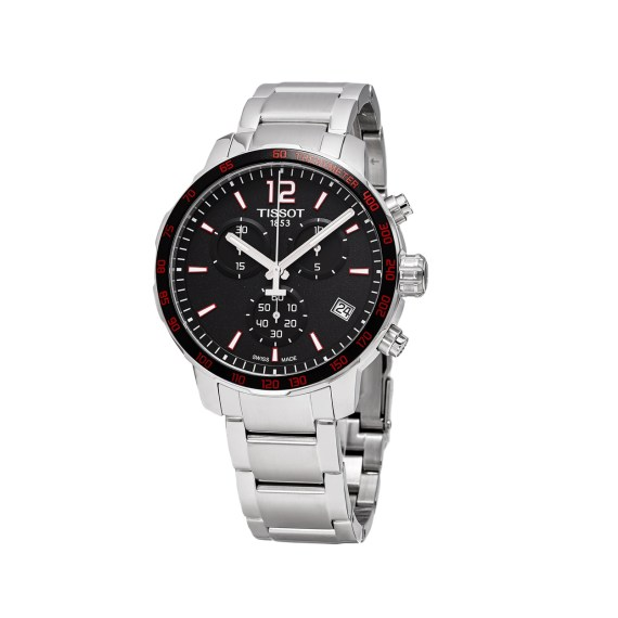 T095.417.11.057.00 Tissot T Sport Quickster Silver Black Red Chronograph Men's Watch Jewelor
