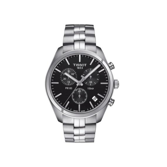T101.417.11.051.00 Tissot T Classic PR100 Silver Chronograph Men's Watch Jewelor
