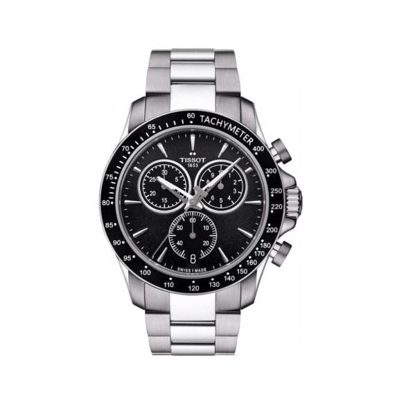 T106.417.11.051.00 Tissot V8 Black Silver Chronograph Men's Watch Jewelor