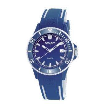 AM:PM Club Two Tone Rubber Strap Men's Watch PM191-U504
