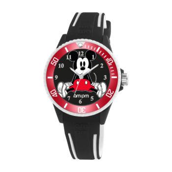 AM:PM Disney Black Rubber Strap Kids' Watch DP187-U611