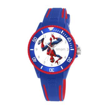 AM:PM Marvel Spiderman Blue Rubber Strap Kids' Watch MP187-U627