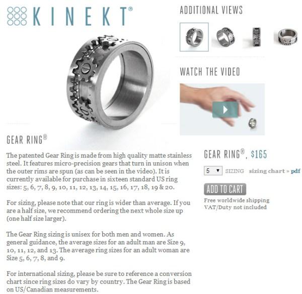 KINEKTS COOL GEAR RING Jewelry Secrets