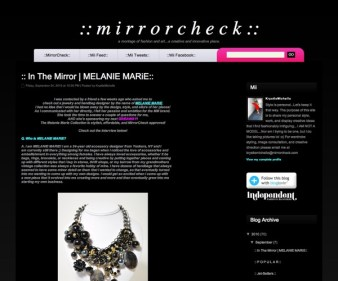 Mirrorcheck.com Featured MELANIE MARiE September 2010