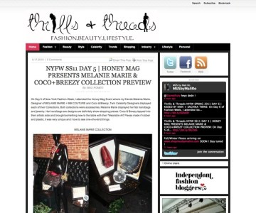 thrillsandthreads.com featured MELANIE MARiE September 2010
