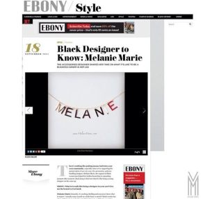 MM featured on Ebony.com in September 2014