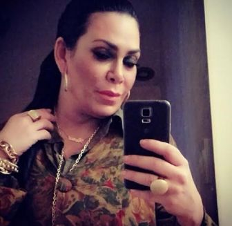 Renee Graziano of VH1's Mob Wives wearing her MM Simple Script necklace