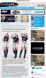 Iamjasonlee.com featured MELANIE MARiE April 2014